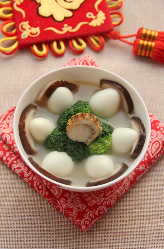 Món canh trứng cút sò điệp nóng hổi, bổ dưỡng, ngon cơm cho ngày lạnh.