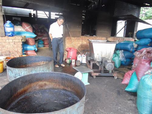 Cơ sở sản xuất cà phê Nhất Thiên bừa bãi, không bảo đảm vệ sinh