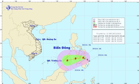 Dự báo thời tiết hôm nay, bão Jangmi tăng cường mạnh, có khả năng vào biển Đông