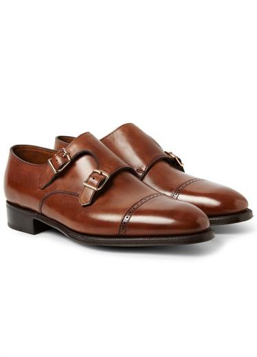 Giày hai nấc khóa (double monks) hiệu John Lobb