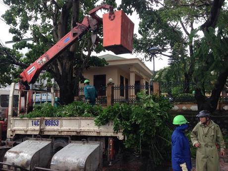 Thành phố Hạ Long đang khẩn trương dọn dẹp vệ sinh môi trường sau bão số 3.