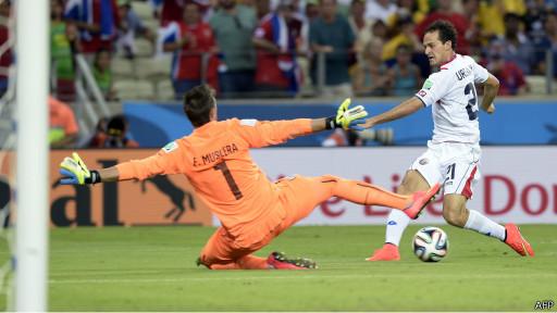 Kết quả trận đấu Uruguay - Costa Rica World Cup 2014 là 1-3 nghiêng về Costa Rica