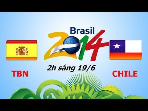 Link sopcast xem trực tiếp trận Tây Ban Nha - Chile