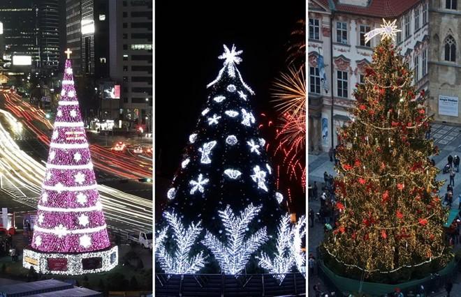 Hàng triệu ánh đèn lấp lánh được thắp sáng trên những cây thông Giáng sinh trên khắp thế giới, thể hiện không khí Noel đang tưng bừng và rộn ràng khắp mọi nơi. Theo đó, dấu hiệu cho mùa Giáng sinh không thể thiếu những cây thông. Nó trở thành tâm điểm của bất cứ mọi trang trí Noel nào. Và mỗi quốc gia với từng khu vực có những kiểu trang trí đặc sắc riêng cho cây thông giáng sinh với những kiểu phá cách rất độc đáo và đầy ấn tượng. Dưới đây là những cây thông noel đẹp nhất thế giới mà du khách khắp nơi thường ghé đến chiêm ngưỡng