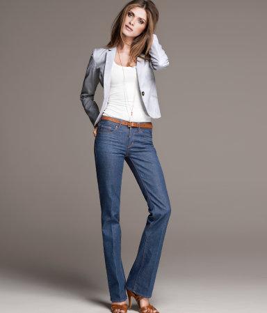 Quần jeans ống đứng Straight là loại quần jeans mùa thu 2014 thông dụng nhất và có thể phù hợp với mọi dáng người.