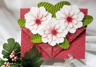 Thiệp hoa handmade xinh yêu – món quà ý nghĩa tặng cô dịp 20/11.