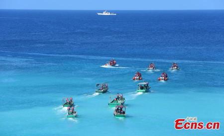 Các tàu Trung Quốc tham gia buổi diễn tập trái phép trong khu vực quần đảo Hoàng Sa của Việt Nam