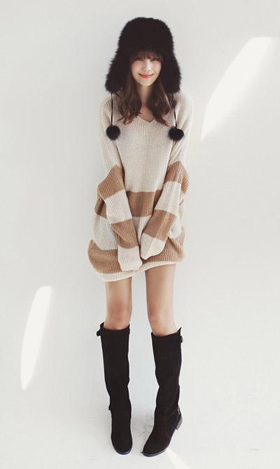 Áo len oversize mặc theo mốt
