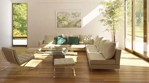 Ánh sáng là yếu tố quan trọng trong bài trí phòng khách theo phong thủy