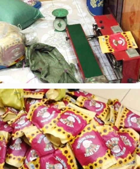 Hạt hướng dương, bánh kẹo Tết không rõ nguồn gốc được chuyển về chợ bán