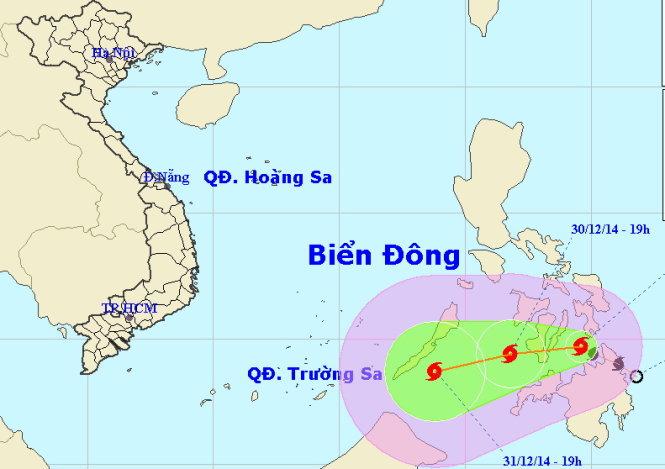 Tin bão mới nhất: bão Jangmi có khả năng di chuyển vào biển Đông trong những ngày tới