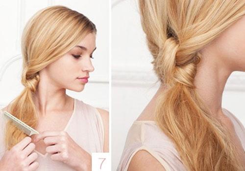 Tóc thắt nút thấp dễ làm, cho bạn gái vẻ ngoài nữ tính và nổi bật