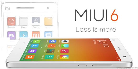MIUI6 là hệ điều hành điện thoại di động mặc định cho Mi 4 – sản phẩm mới của hãng Xiaomi (Trung Quốc)