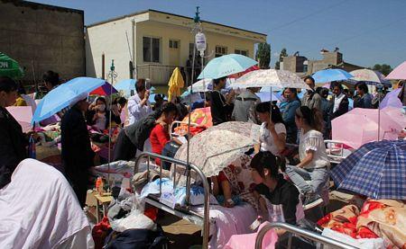 Số lượng người bị thương trong trận động đất là rất lớn