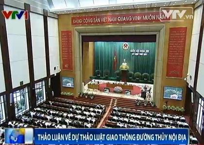 Quốc hội thảo luận Dự luật Giao thông đường thủy nội địa