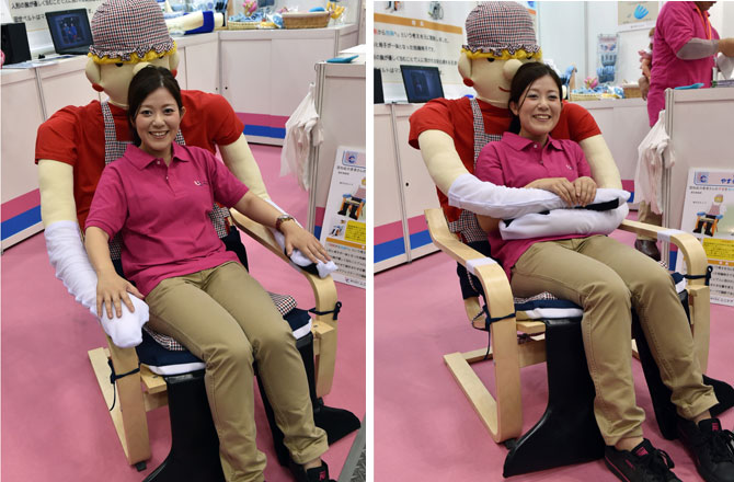 Chiếc ghế biết ôm - một sản phẩm sáng tạo của công ty UniCare