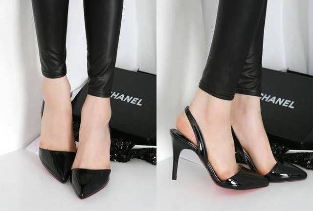 Giày cao gót mũi nhọn cũng là một gợi ý giúp che khuyết điểm cho cô nàng chân thô