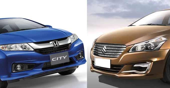 Honda City có giá bán cao hơn một chút so với Maruti Ciaz khi so sánh xe oto về giá cả