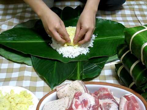 Bánh chưng xanh – món ngon ngày tết được gói với các bước đơn giản
