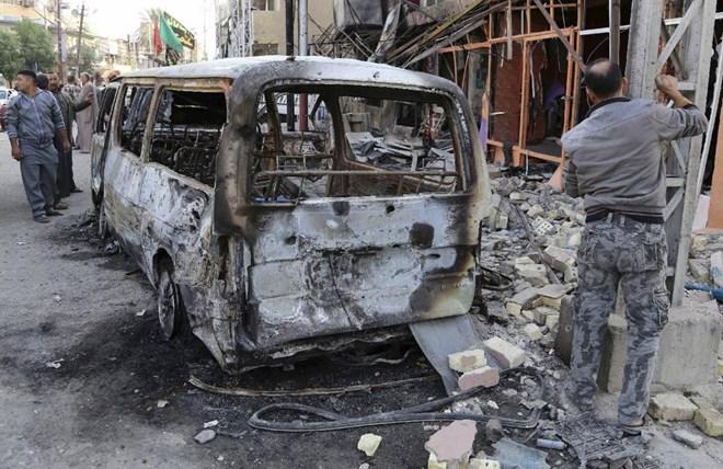 Một vụ đánh bom xe tại Baghdad hôm 15/11