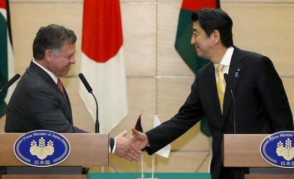 Hai nhà lãnh đạo Nhật Bản và Jordan cam kết hợp tác trong nhiều lĩnh vực