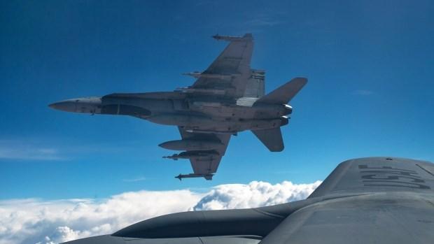 Một chiếc chiến đấu cơ CF-18