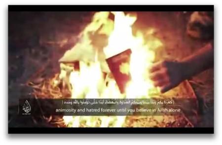 Những tên Khủng bố IS người Pháp đốt cháy hộ chiếu của chúng