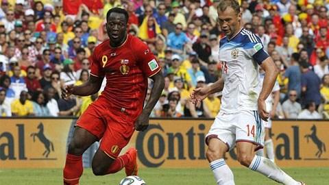 Kết quả tỉ số trận đấu Bỉ - Nga World Cup 2014