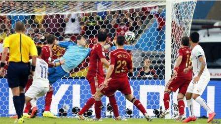 Kết quả tỉ số trận đấu Tây Ban Nha - Chile là 0-2
