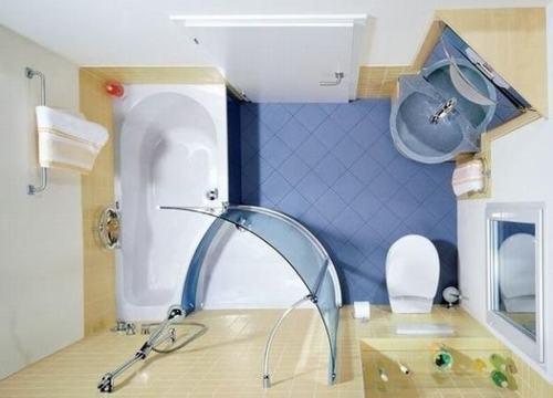 Bài trí phòng tắm nhỏ trở nên thoáng rộng - ảnh 2