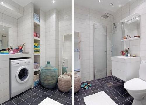 Bài trí phòng tắm nhỏ trở nên thoáng rộng - ảnh 3