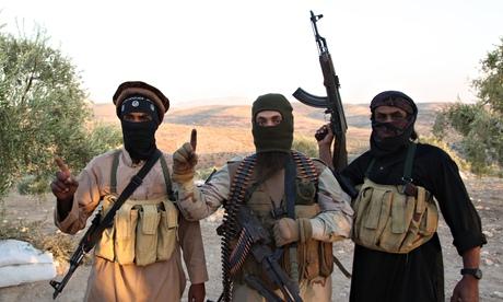 Các thành viên của nhóm khủng bố IS ở Allepo, Syria