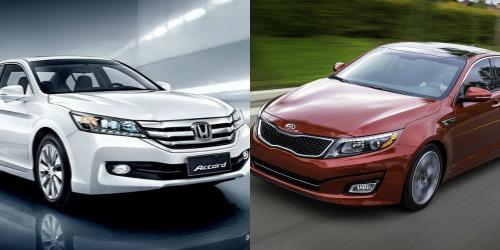 Khi so sánh Kia Optima và Honda Accord, cả hai mẫu đều trạng bị động cơ hàng đầu