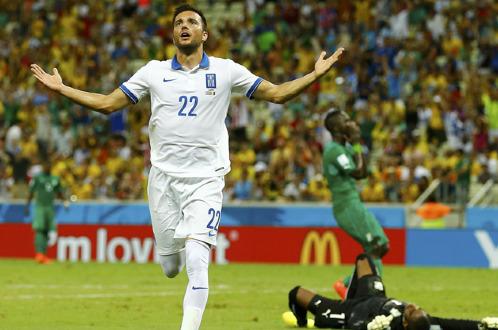 kết quả tỉ số trận đấu Hy Lạp - Bờ Biển Ngà World Cup 2014