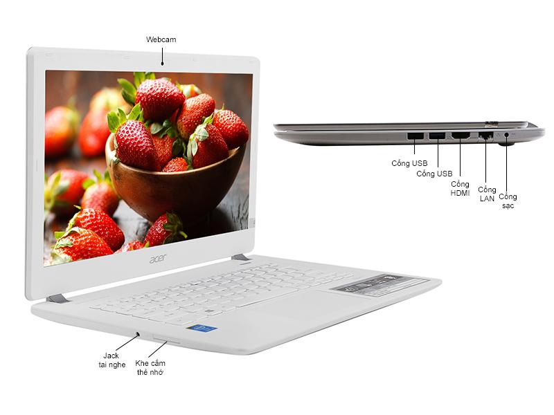 Laptop siêu mỏng giá rẻ Acer Aspire V3-371-33A7 với thiết kế vô cùng đẹp mắt