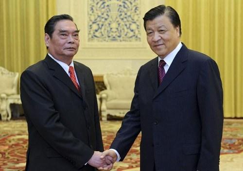 Thường trực Ban Bí thư Lê Hồng Anh và Bí thư Ban Bí thư đảng Cộng sản Trung Quốc Lưu Vân Sơn trao đổi về mối quan hệ Việt – Trung