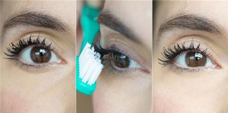 khắc phục mascara vón cục từ bàn chải đánh răng
