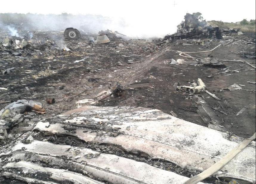 hiện trường xảy ra vụ tai nạn MH17
