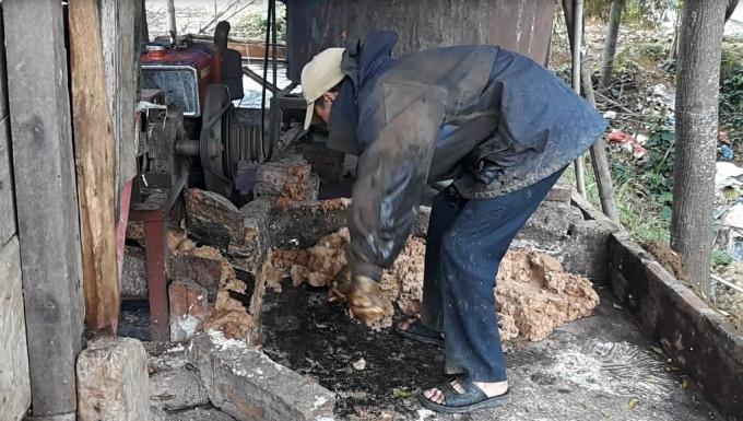 cơ sở sản xuất miến bẩn tại xã Minh Quang, Ba Vì
