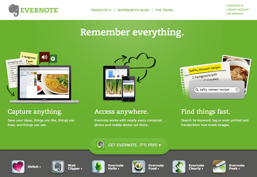 Evernote là một ứng dụng hữu ích giúp quản lý thời gian và nâng cao năng suất công việc