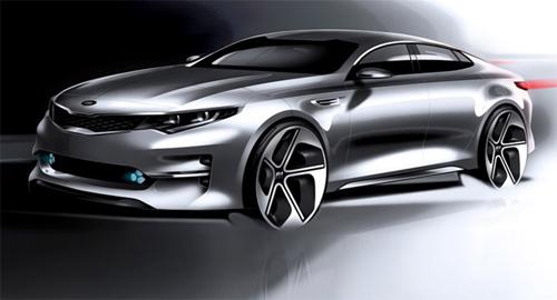Bản phác thảo ô tô Kia Optima 2016 với nhiều thay đổi mới