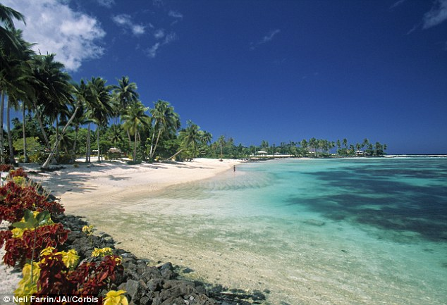 Đảo núi lửa Upolu thuộc quần đảo núi lửa Samoa