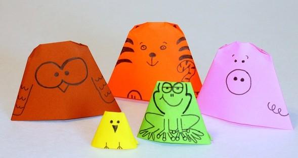 Những chú rối bằng giấy dễ thương là món quà 1/6 độc đáo cho bé