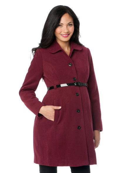 Áo dạ là món đồ không thể thiếu trong tủ đồ quần áo mùa đông 2014 của bà bầu
