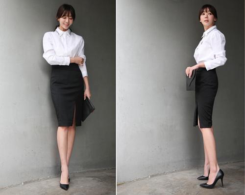 Chân váy bút chì không thể thiếu trong tủ đồ quần áo mùa đông 2014 của chị em công sở