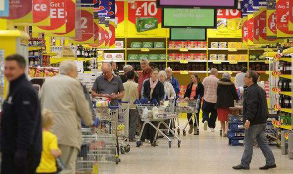 Bên trong một siêu thị tại nước Anh