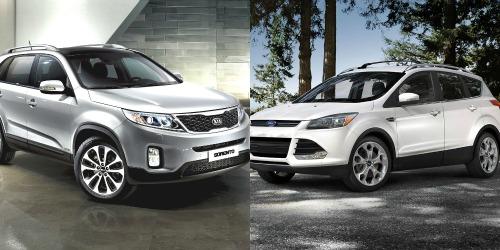 Nội thất xe Ford tương đối trang nhã với vật liệu cao cấp hơn, còn nội thất Sorento không mấy ấn tượng