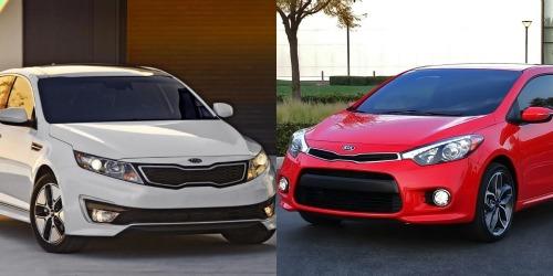 Khi so sánh xe ô tô, cả Kia Forte và Kia Optima đều được gia cố thêm về mặt cấu trúc và được trang bị một số tính năng an toàn tiêu chuẩn