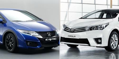 Honda Civic và Toyota Corolla bổ sung nhiều tiện ích tiên tiến và hữu dụng