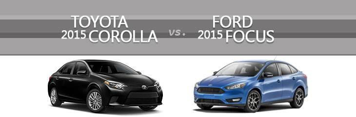 Khi so sánh xe ô tô thuộc dòng compact, không thể bỏ qua hai cái tên mới nhất Toyota Corolla 2015 và Ford Focus 2015